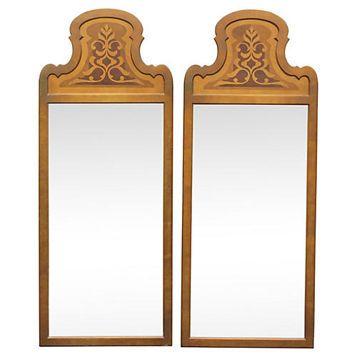 1970s Giltwood Mirrors, Pair