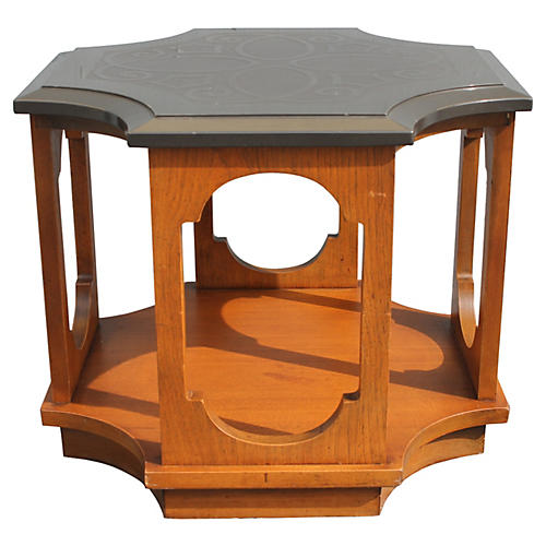 1970s Stone-Top Occasional Table