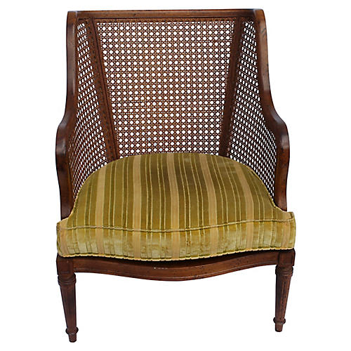 Midcentury Caned Club Chair
