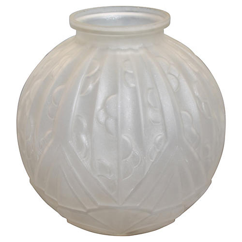 1920s French Art Deco Glass Vase