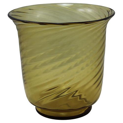 1920s Art Deco Steuben Swirl Vase