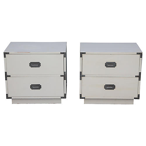 Campaign Nightstands, S/2