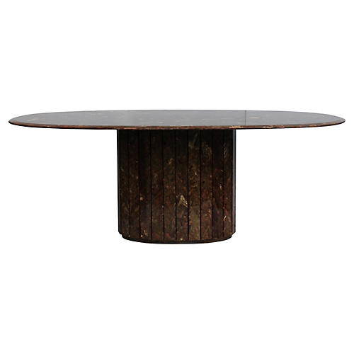 Mid-Century Modern Marble Dining Table