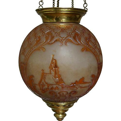 19th-C. Baccarat Lantern