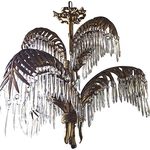 Maison Bagues Bronze Palm Chandelier