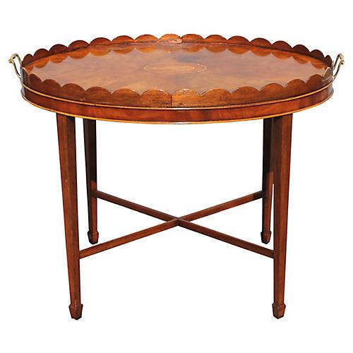 Baker Collectors Burl Tea Table