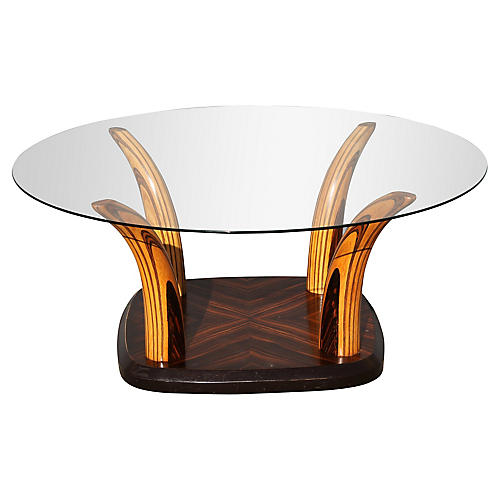 1930s Art Deco Macassar Coffee Table