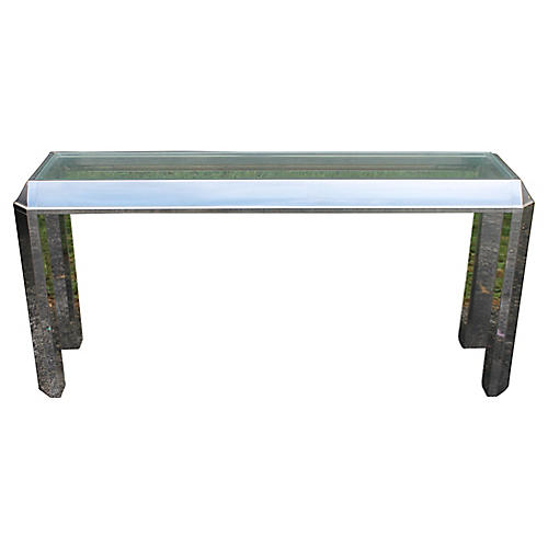 Modern Chrome & Glass Console