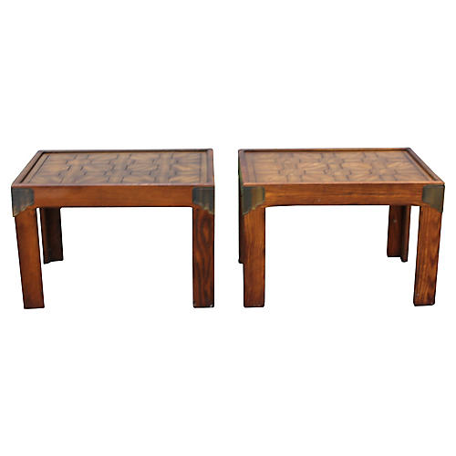 Midcentury Centurion Side Tables, Pair
