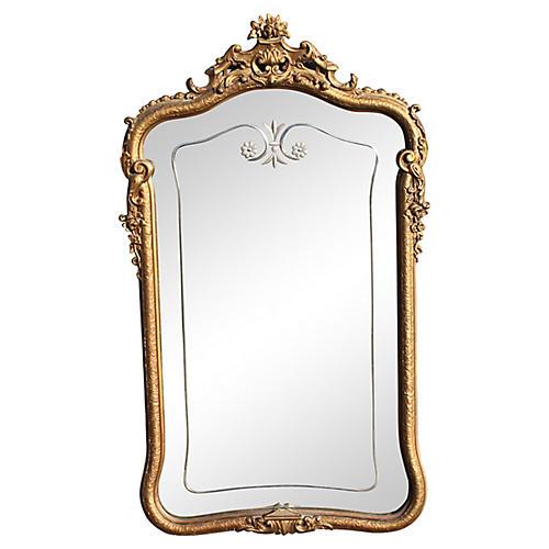 19th-C Louis XV-Style Giltwood Mirror