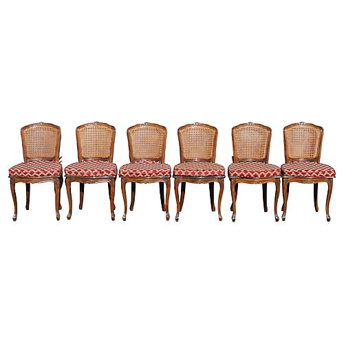 Set 6 Vintage French style Dining Chairs