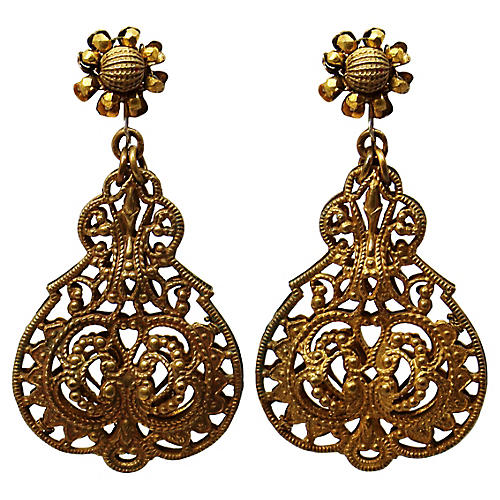 Haskell Dangling Filigree Earrings