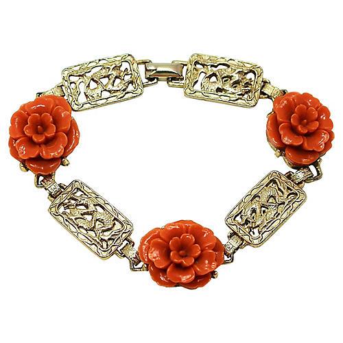 Coro Dragon & Faux-Coral Bracelet