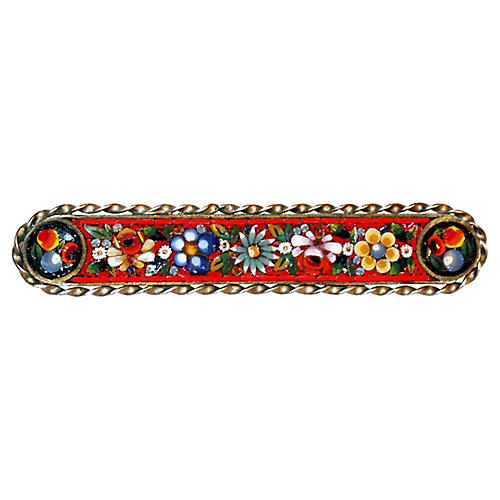 Floral Micro Mosaic Brooch