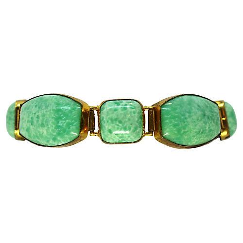 1930s Czech Glass Bracelet