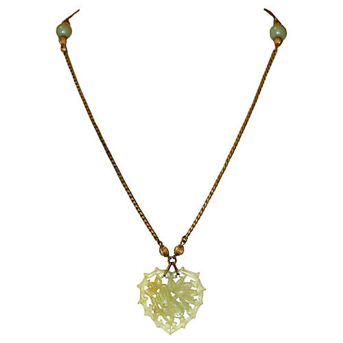 Miriam Haskell Jade Glass Necklace