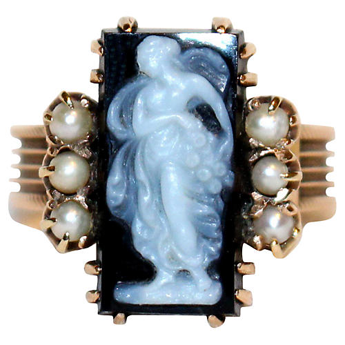 Georgian 14K Gold Cameo Ring