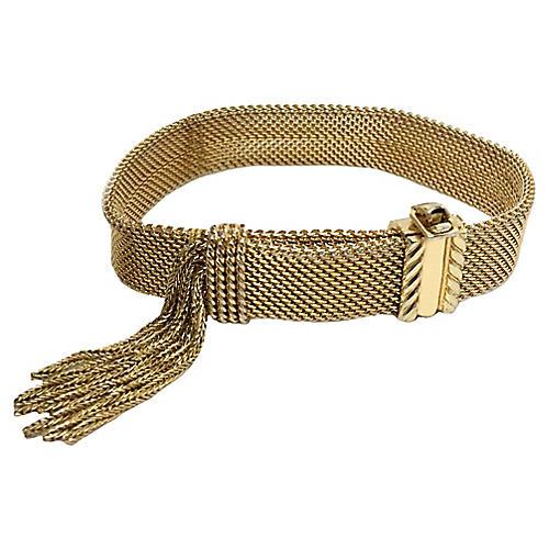 Mesh Slide Bracelet w/ Tassel