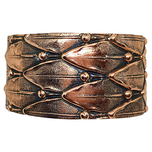 Renoir Leaf-Motif Copper Cuff