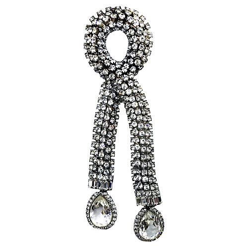 deLillo Dangling Crystal Clip/Brooch