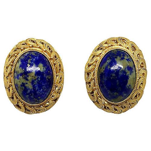 Chinese Sodalite Earrings