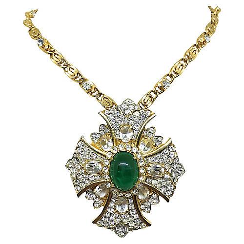 KJL Maltese Cross Pendant Necklace
