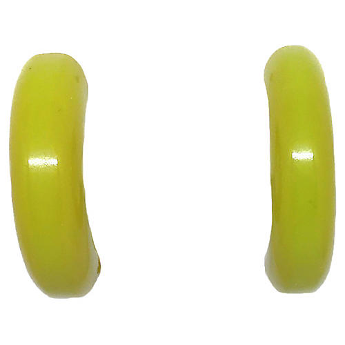 Bakelite Hoop Clip Earrings