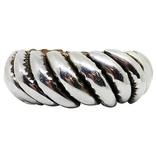 Silver-Plated Wood Bangle