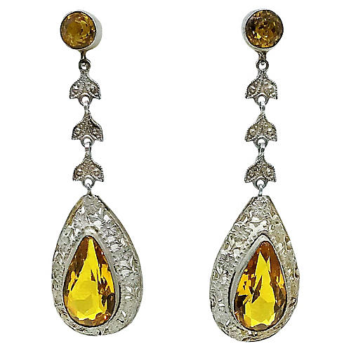 1920s Czech Dangling Earrings