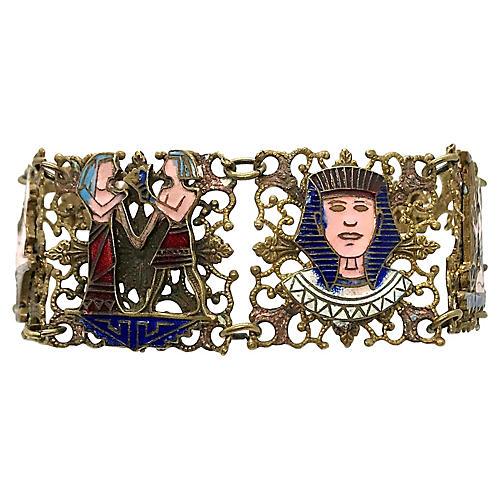 1920s Egyptian Revival Souvenir Bracelet