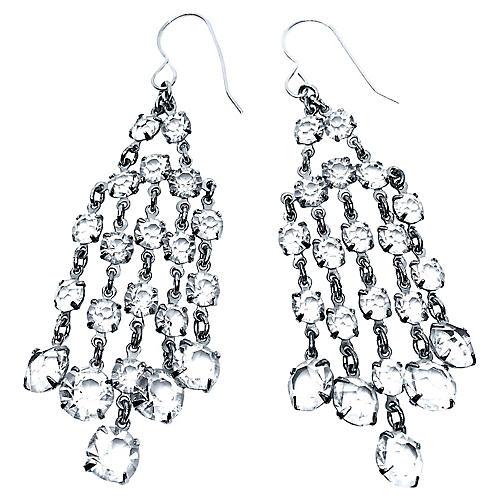 Art Deco Crystal Dangling Earrings