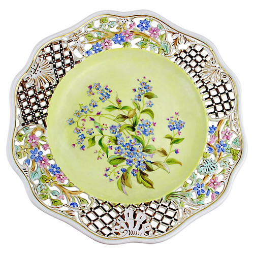 19th-C. Dresden Wall Plate