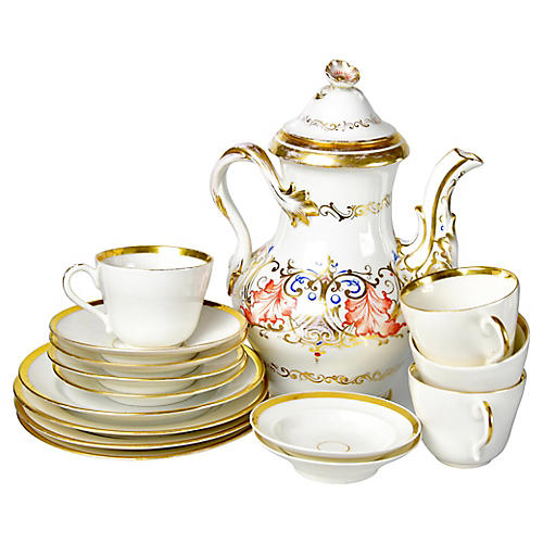 19th-C. Dessert Set, Svc. for 4
