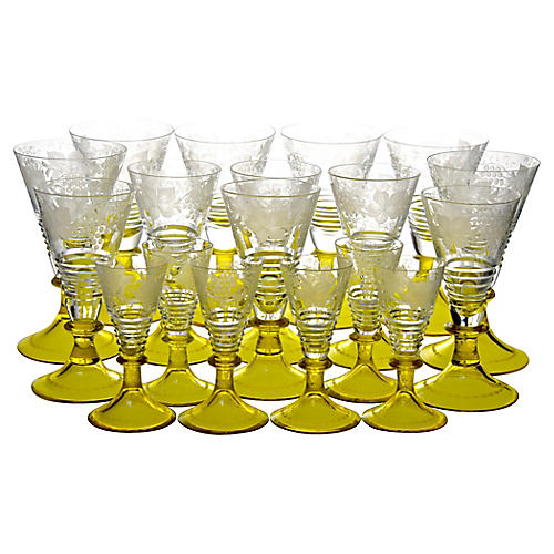 Webb Crystal Glasses, S/18