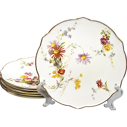 19th-C. Royal Worcester Plates, S/6