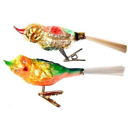 Parakeet Clip Ornaments