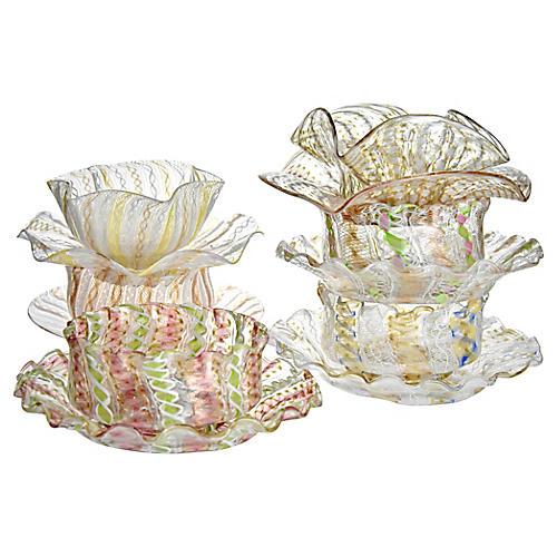 Antique Venetian Bowls & Plates, 12 Pcs