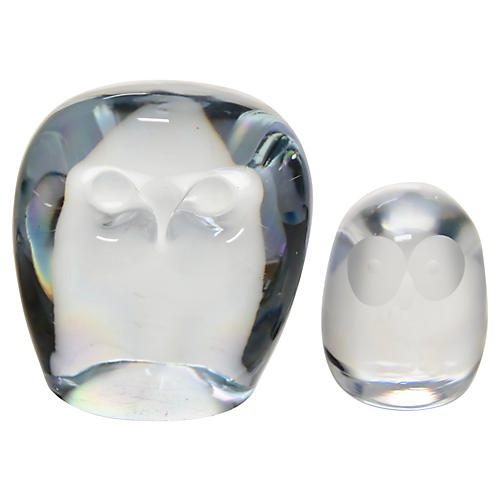 Glass Owls, Pair