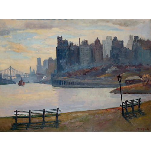 Chuck Wong New York City Oil Painting