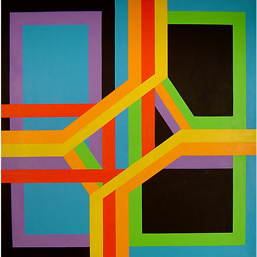 James Koenig Painting Ribbon Structure