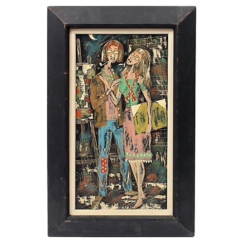 1960s The Artist & His Muse by Simon