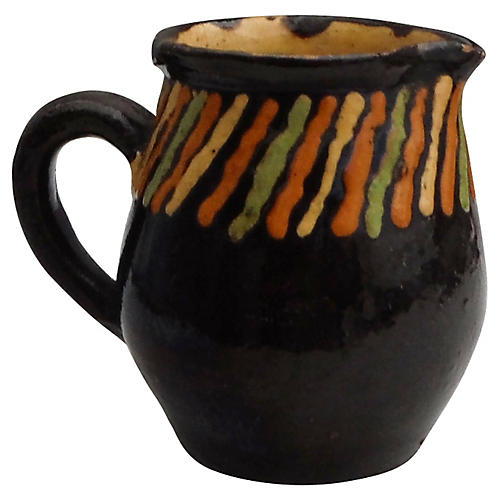 French Striped Pitcher