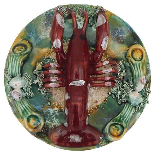 Majolica Lobster Wall Platter