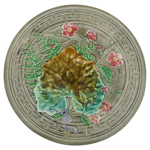 Choisy Le Roi Majolica Leaves Plate