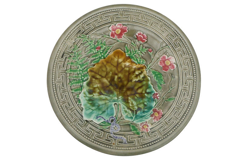 Choisy Le Roi Majolica Leaves Plate
