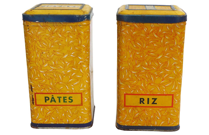 French Kitchen Canisters, S/2