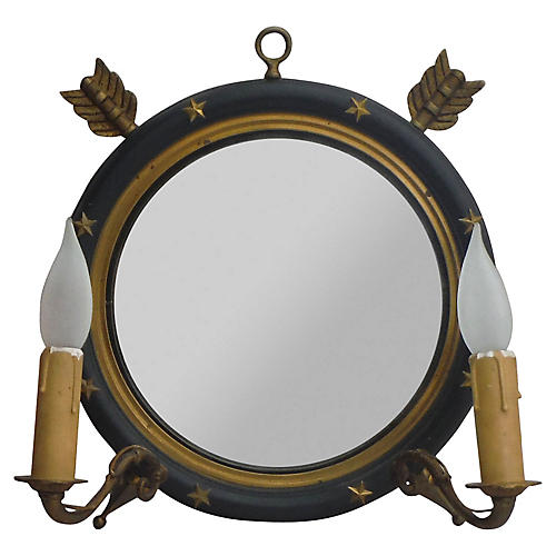 Empire-Style Mirrored Sconce