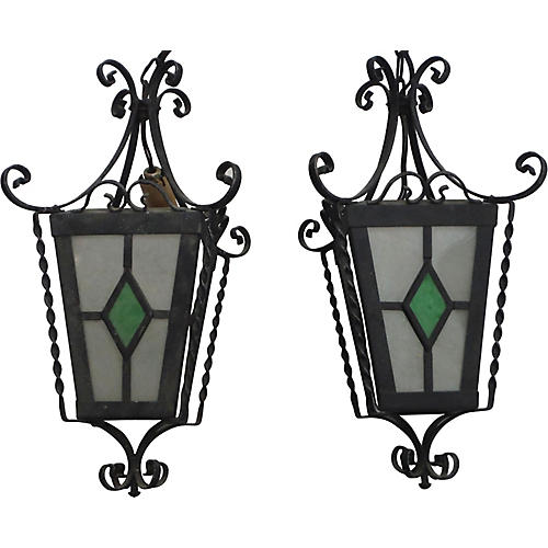 French Lanterns, Pair