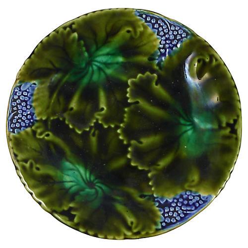 Majolica Leaves Plate