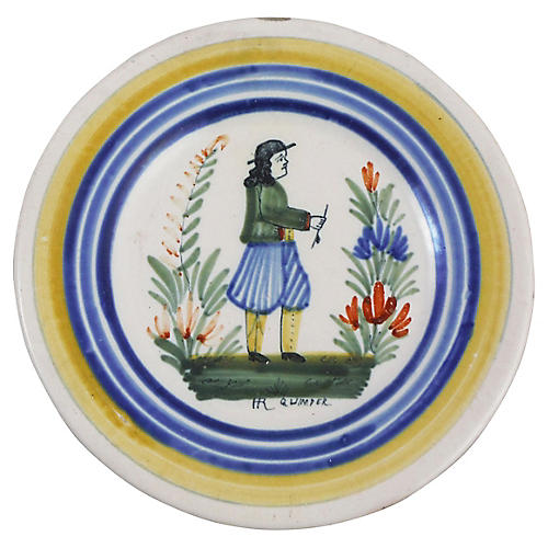French Quimper Wall Plate